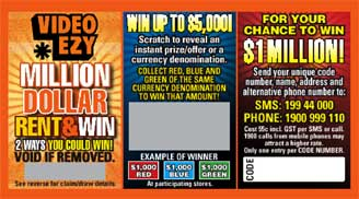 Video Ezy scratch card